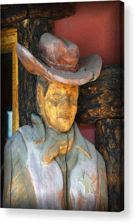 Wooden Cowboy Acrylic Print featuring the photograph Turned To Wood by Diane Wood