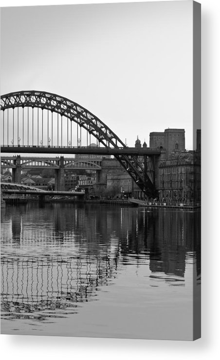 England Acrylic Print featuring the photograph Tyne Bridge by Gary Finnigan