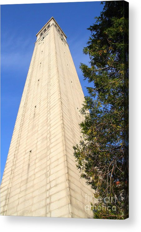 Architecture Acrylic Print featuring the photograph Uc Berkeley . Sather Tower . The Campanile . Clock Tower . 7d10085 by Wingsdomain Art and Photography