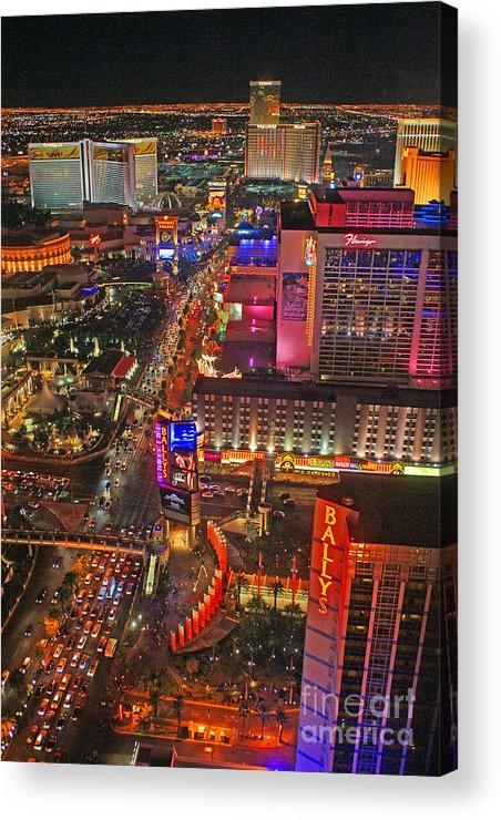 Las Vegas Acrylic Print featuring the photograph Vegas Strip by Randy Harris