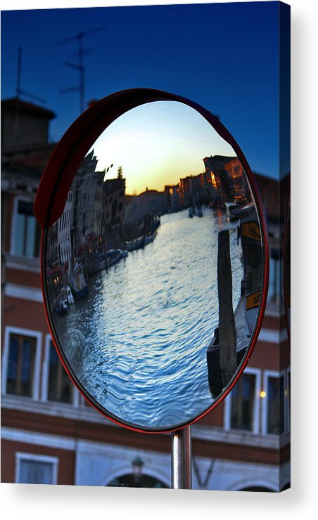 Venice Acrylic Print featuring the photograph Venice Grand Canal Mirrored by Cedric Darrigrand