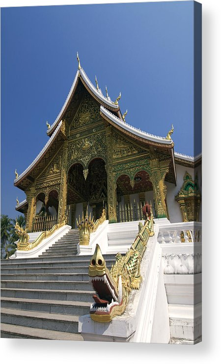Angle Acrylic Print featuring the photograph Wat Sen Dragons by Gloria & Richard Maschmeyer