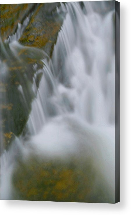 Waterfall Acrylic Print featuring the photograph Water Movement 79 by Stephen Vecchiotti