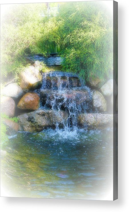 Water Acrylic Print featuring the photograph Waterfall by Rebecca Frank