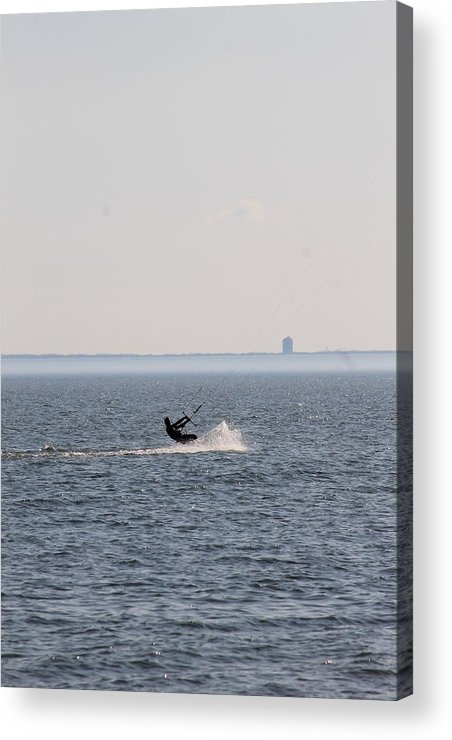Water Acrylic Print featuring the photograph Wind Surfer by Rebecca Frank