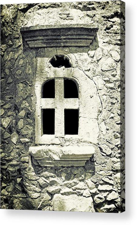 Window Acrylic Print featuring the photograph Window Of Stone by Joana Kruse