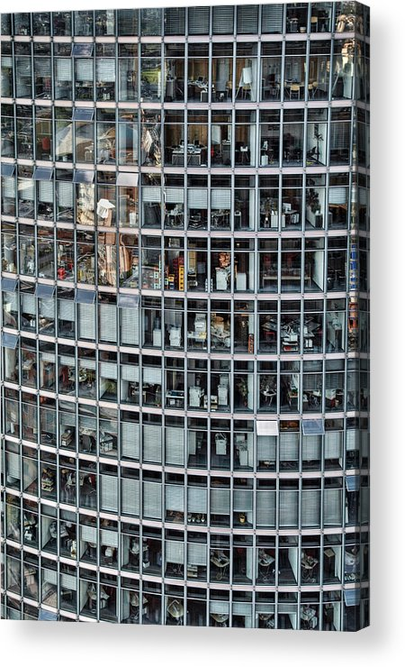 Vertical Acrylic Print featuring the photograph Windows Again, Berlin by Eike Maschewski