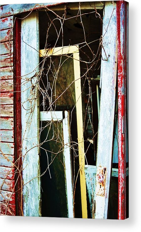 Yellow Door Acrylic Print featuring the photograph Yellow Door by Todd Sherlock