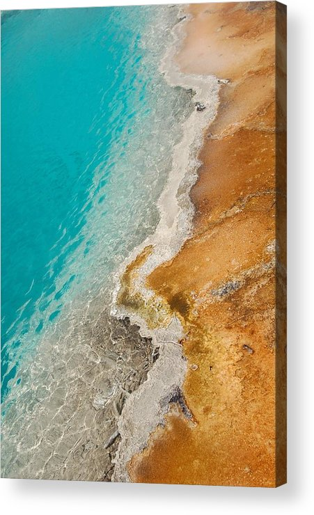 Yellowstone Acrylic Print featuring the photograph Yellowstone Thermal Pool 2 by Peg Toliver