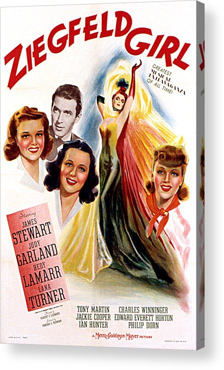 1940s Movies Acrylic Print featuring the photograph Ziegfeld Girl, Judy Garland, James by Everett