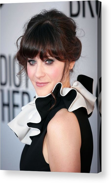 Zooey Deschanel Acrylic Print featuring the photograph Zooey Deschanel Wearing A Moschino by Everett