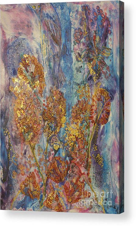 Acrylic Print featuring the painting Happy New Year 2010 by Heather Hennick