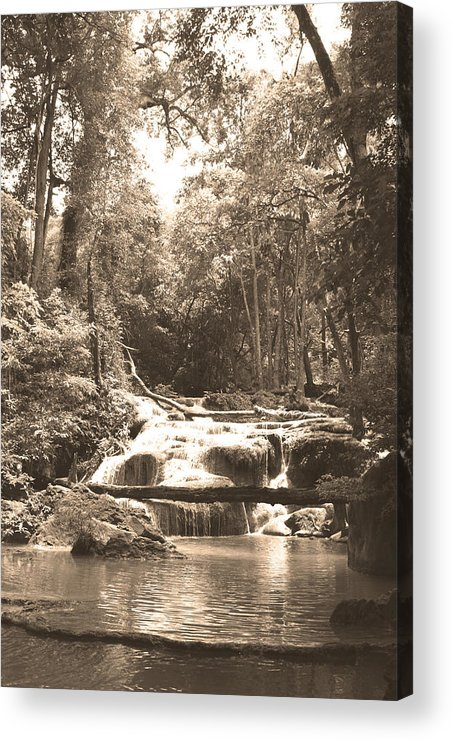 Waterfall Acrylic Print featuring the photograph 08003 by Jeffrey Freund