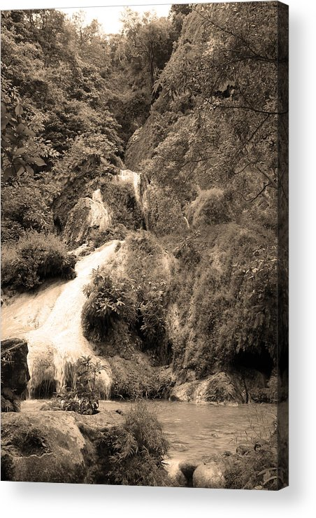 Waterfalls Acrylic Print featuring the photograph 08005 by Jeffrey Freund