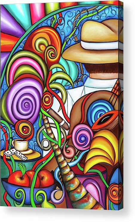 Cuba Acrylic Print featuring the painting Always by Annie Maxwell