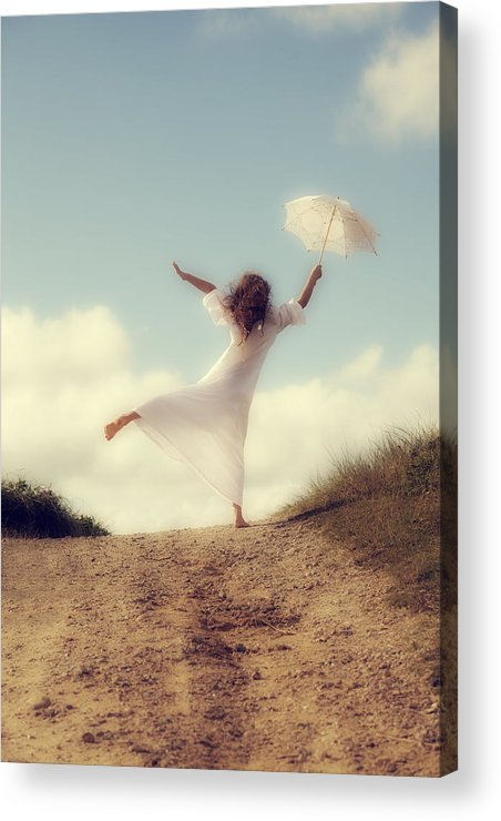 Girl Acrylic Print featuring the photograph Angel With Parasol by Joana Kruse