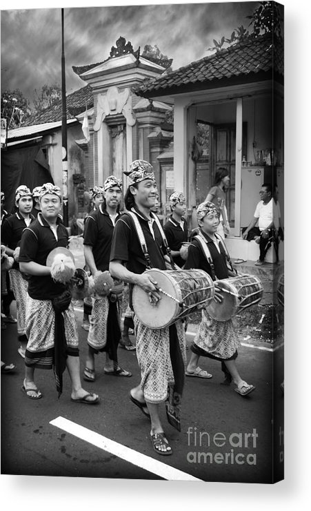 Candid Acrylic Print featuring the photograph Balinese People by Charuhas Images
