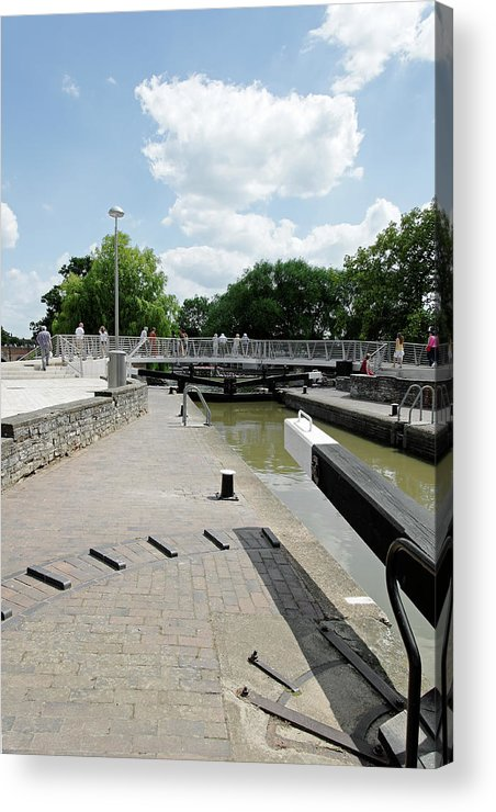 Europe Acrylic Print featuring the photograph Bancroft Basin - Canal Lock by Rod Johnson
