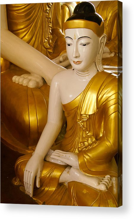 Buddha Acrylic Print featuring the photograph Buddhas In Burma by Michele Burgess
