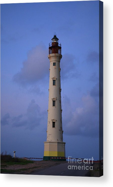 California Lighthouse Acrylic Print featuring the photograph California Lighthouse In Noord Aruba by DejaVu Designs