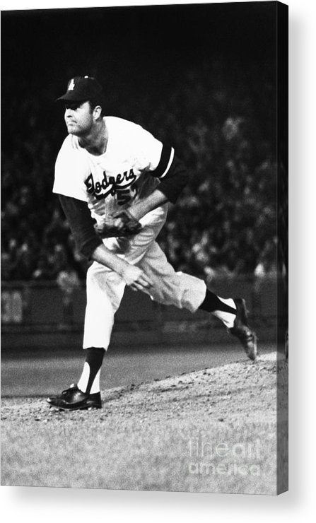 1968 Acrylic Print featuring the photograph Don Drysdale (1936-1993) by Granger