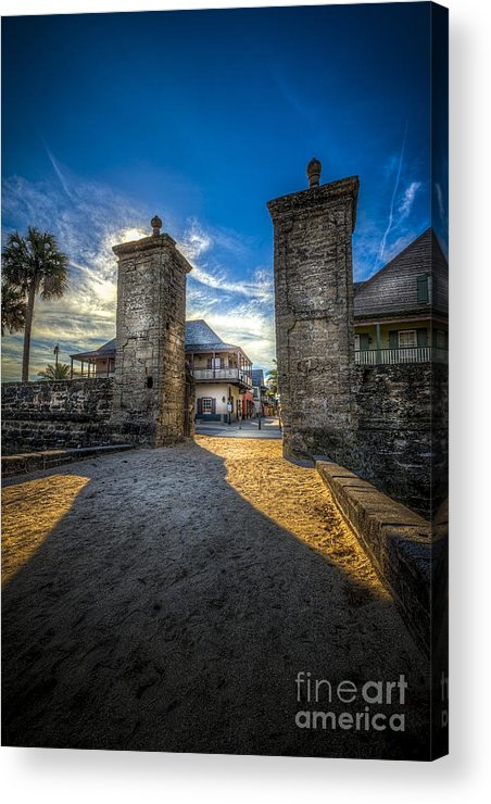 Fort Acrylic Print featuring the photograph Gate To The City 2 by Marvin Spates