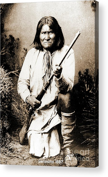 Native Acrylic Print featuring the photograph Geronimo by Gary Wonning