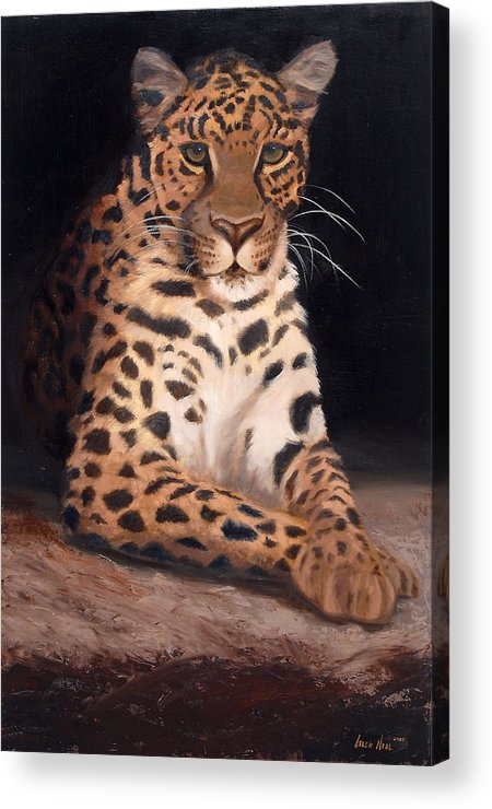 Wildlife Acrylic Print featuring the painting Intrigued by Greg Neal