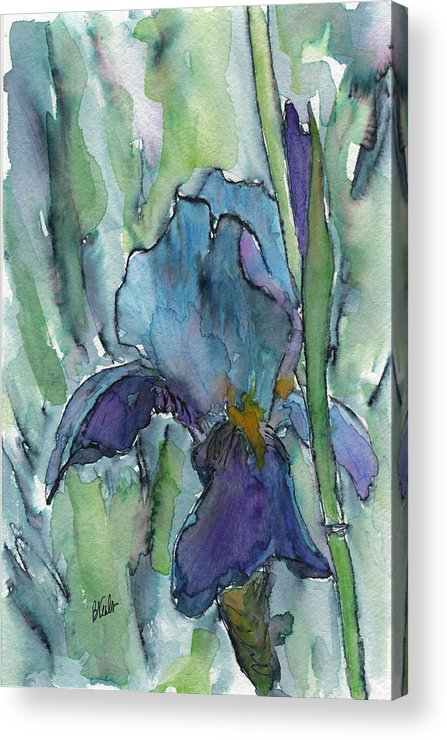 Iris Acrylic Print featuring the painting Iris by Bev Veals