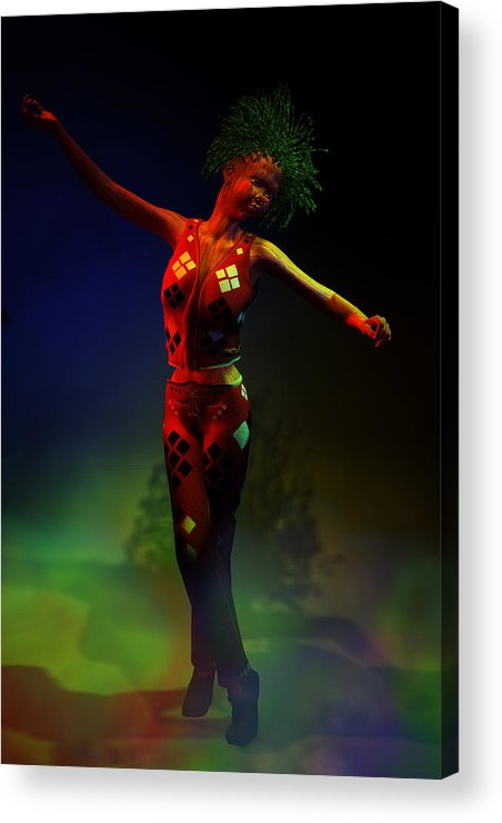 Puppet Acrylic Print featuring the digital art No Strings On Me by Dan Redding