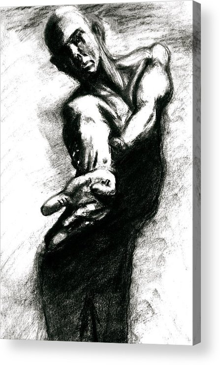 Sketch Acrylic Print featuring the drawing Shadow Dancer by Dan Earle