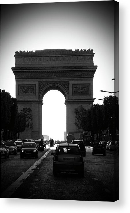 Streets Of Paris Acrylic Print featuring the photograph Streets Of Paris by Kamil Swiatek