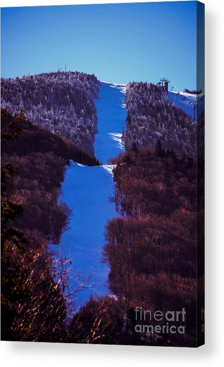 Mountain Acrylic Print featuring the photograph Vermonts Sugarbush Mountain by Sherman Perry