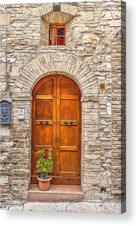 Assisi Acrylic Print featuring the photograph 1164 Assisi Italy by Steve Sturgill