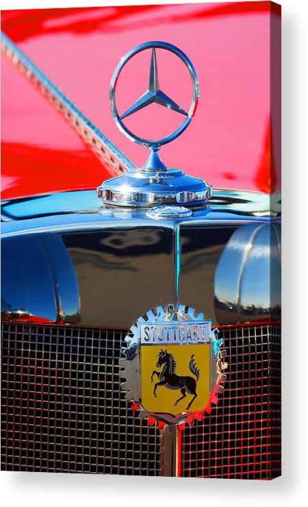 Transportation Acrylic Print featuring the photograph 1934 Mercedes Benz 500 K Roadster by Jill Reger