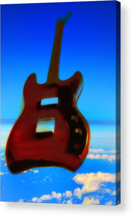 Guitar Acrylic Print featuring the photograph 1963 Guild Jet Star by Bill Cannon