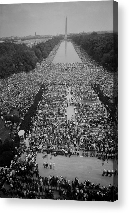 History Acrylic Print featuring the photograph 1963 March On Washington, At The Height by Everett