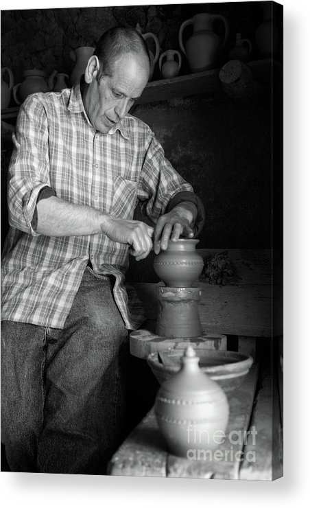 Azores Islands Acrylic Print featuring the photograph Azores Islands Pottery by Gaspar Avila