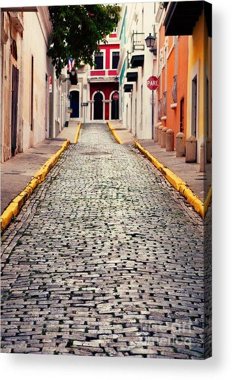 San Juan Acrylic Print featuring the photograph Old San Juan Puerto Rico by Kim Fearheiley