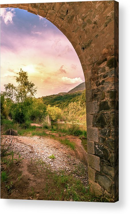Bridge Acrylic Print featuring the photograph // by Stavros Argyropoulos