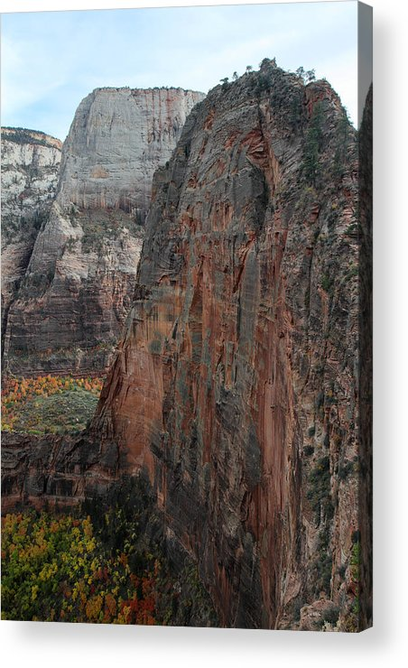 Zion Acrylic Print featuring the photograph Angels Landing In Zion by Pierre Leclerc Photography