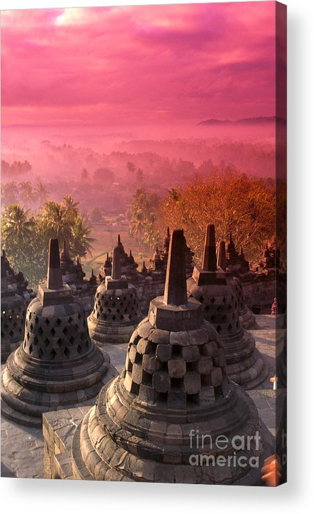 Ancient Acrylic Print featuring the photograph Borobudor Temple by Gloria & Richard Maschmeyer - Printscapes