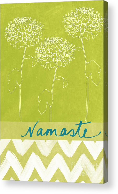 Namaste Acrylic Print featuring the painting Namaste by Linda Woods
