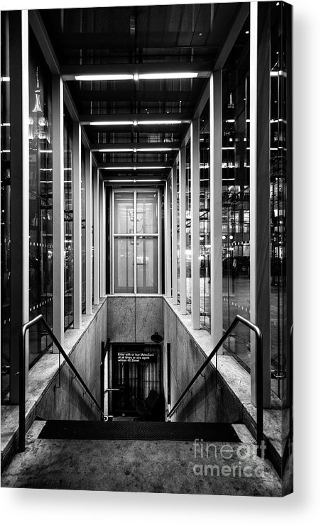 Symmetry Acrylic Print featuring the photograph 42nd Street Bryant Park Fifth Avenue by Edi Chen