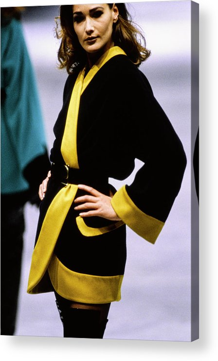 Fashion Acrylic Print featuring the photograph Versace Fall 1991 Rtw Show by Guy Marineau