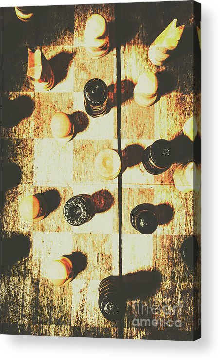 Chessboard Acrylic Print featuring the photograph 50 Shades Of Good And Evil by Jorgo Photography - Wall Art Gallery