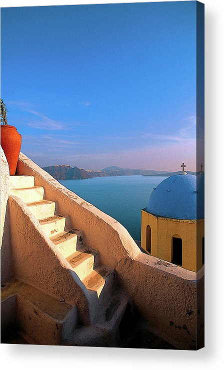 Santorini Acrylic Print featuring the photograph Santorini by Manolis Tsantakis