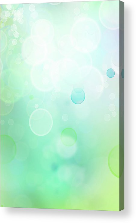 Green Acrylic Print featuring the digital art Abstract Background by Les Cunliffe