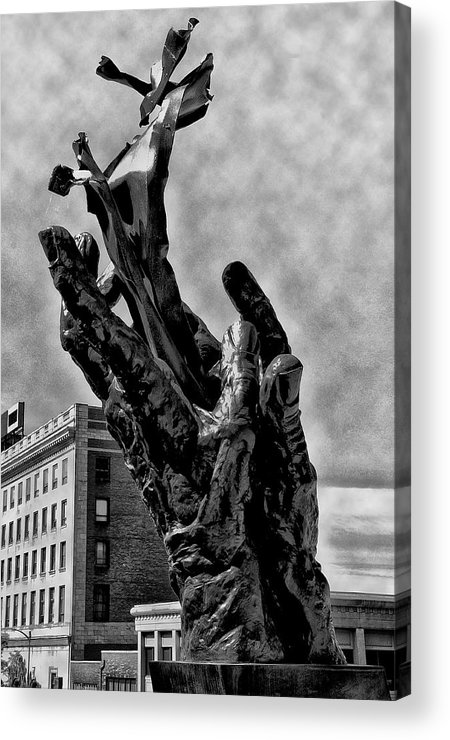 911 Acrylic Print featuring the photograph 911 Memorial - Norristown by Bill Cannon