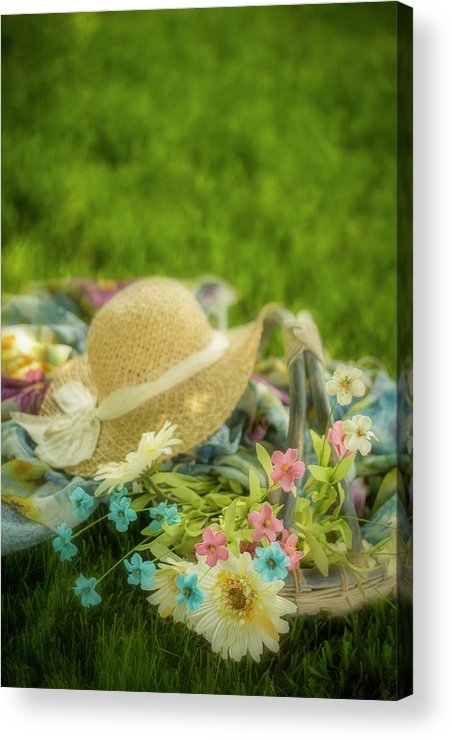 Basket Acrylic Print featuring the photograph A Spring Afternoon by Eleanor Caputo